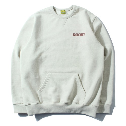 [GO OUT x VDR] V HEAVY SWEAT SHIRT [Oatmeal]