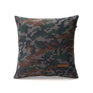 Gray camouflage cushion