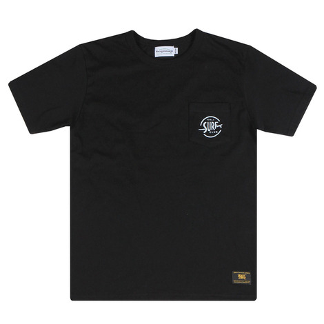 Cali surf club pocket tee(black)