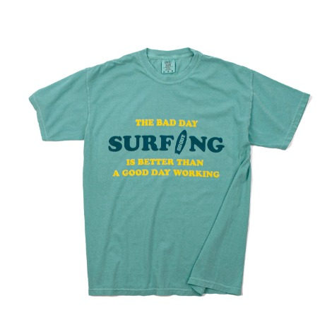 Bad Day SurfingGARMENT DYEING S/S T-Shirts(Sea) 30% OFF