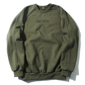 [GO OUT x VDR] RAGLAN HEAVY SWEAT SHIRT [Khaki]