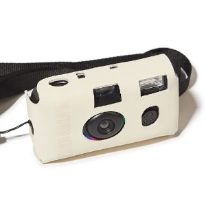 [GO OUT x URBANDTYPE]Disposable Camera leather Case_Ecru